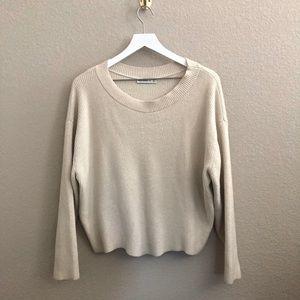 Zara Ribbed Knit Boxy Pullover Sweater